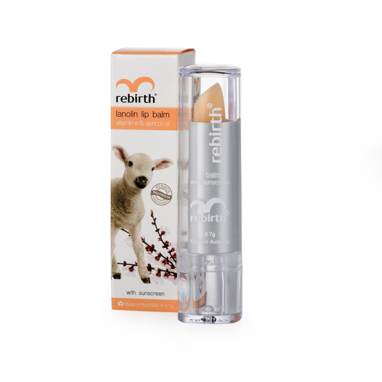 Rebirth Lanolin Lip Balm With Vitamin E Amp Apricot Oil