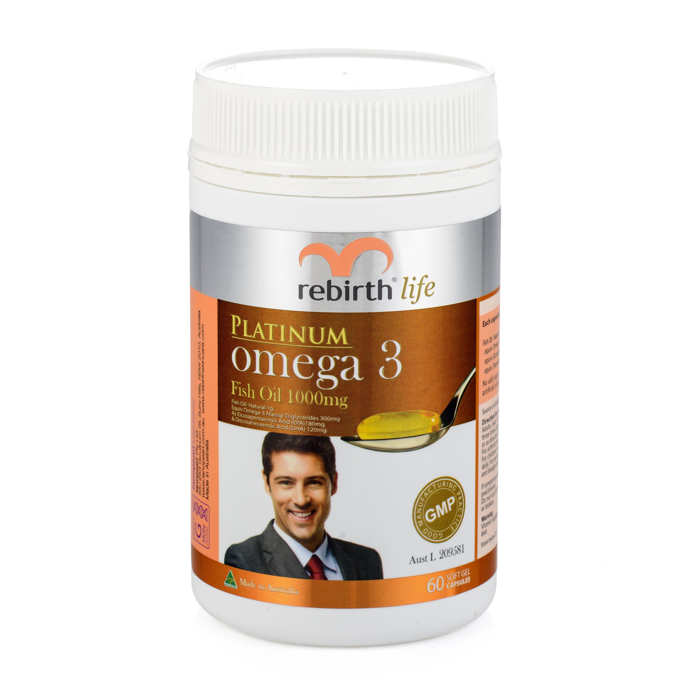 Rebirth life platinum omega 3 1 000 mg 60 capsules rl02 for Fish oil pearls
