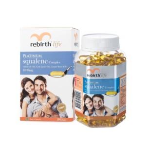 Rebirth Platinum squalene 1000mg 300capsules