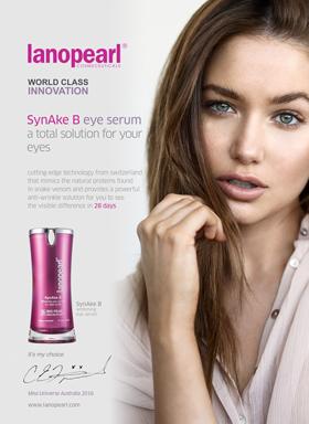 Caris Tiivel, Miss Universe Australia 2016, choose SynAke B Whitening Eye Serum for Dark Circles (LB27) 15ml